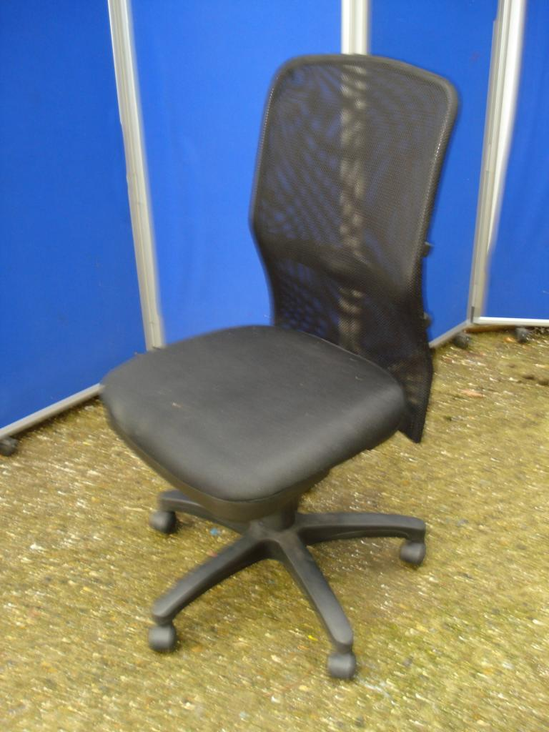 Buy mesh back armless operator chair black scott associates - Armless office chairs uk ...