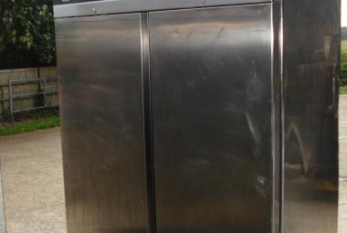 used zanussi double door stainless steel fridge reading berkshire