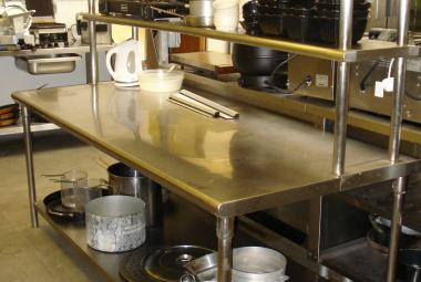 used 2000mm catering prep station chertsey