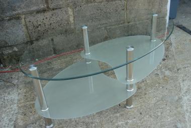 oval glass coffee table 2 shelves reading newbury berkshire reception area