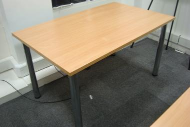 beech 1.3m x 0.8m training table post legs reading newbury berkshire