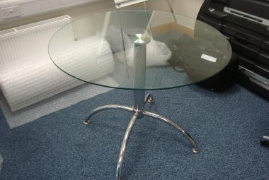 glass meeting table round modern reading newbury berkshire