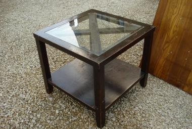 dark wood occasional table glass top hotel newbury berks