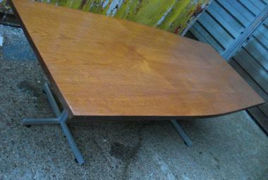 teak veneer boardroom table newbury reading berkshire
