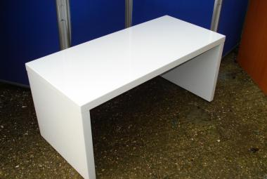 used white gloss rectangular coffee table office reception newbury berkshire