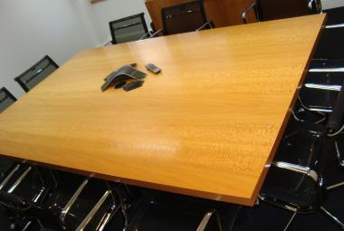 beech veneer 2.4m x 1.5m table modern reading newbury basingstoke