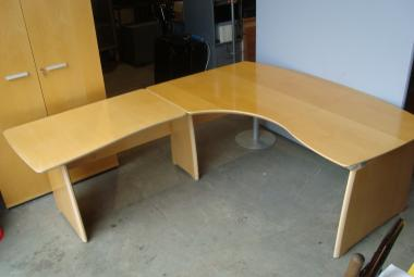 verco exec corner desk with return maple veneer reading newbury berkshire