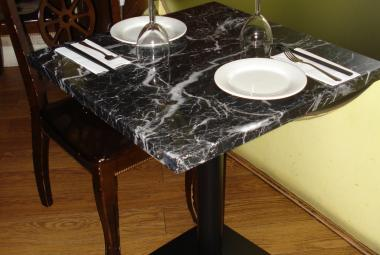 used dining table marble effect restaurant newbury chertsey