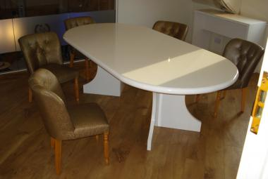 8 seater modern meeting table white gloss surrey