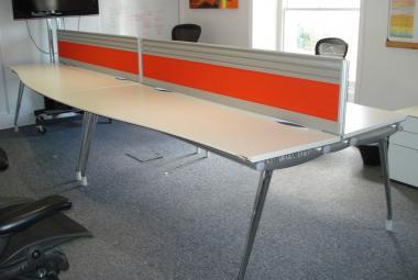 herman miller 2000mm white wave desk two man pod newbury