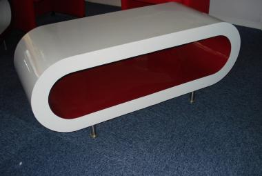 white and red oval coffee table designer contemporary newbury reading berkshire