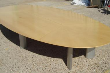 maple veneer large boardroom table used reading newbury berkshire