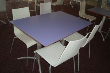 Canteen Table Lilac Rectangular staff room reading newbury berkshire