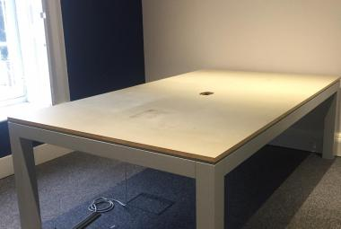 grey meeting table newbury berks 3.6m