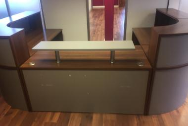 walnut reception desk newbury berks