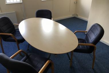 oval maple meeting table modern newbury berkshire