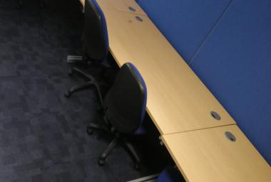 1.6m beech office desk oxford newbury