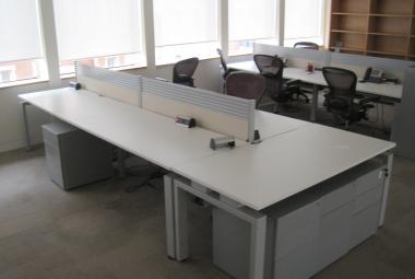 bench desk white silver senator 1.6m  newbury reading berkshire