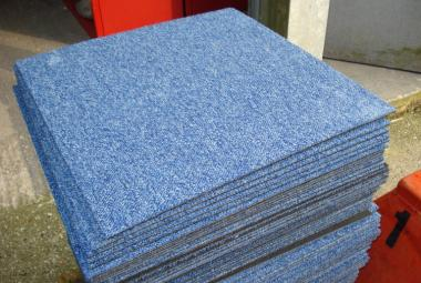 used commercial grade carpet tile blue newbury berks
