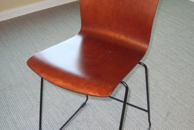 walnut bentwood stool reading newbury berkshire