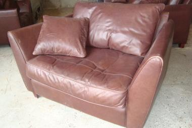 love chair brown leather reading newbury berkshire