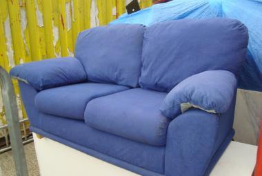 blue 2 seater sofa newbury reading berkshire