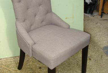 dining lounge chair button back grey dark legs newbury reading berks