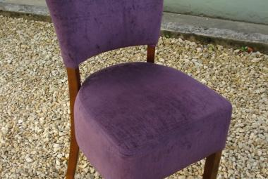 purple dining chair no arms newbury reading berkshire  hotel restaurant