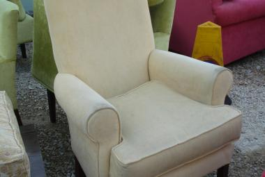 cream high back lounge chair hotel pub newbury reading berkshire
