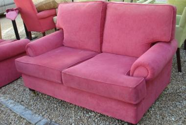 red fabric 2 seater settee hotel reception newbury reading berkshire