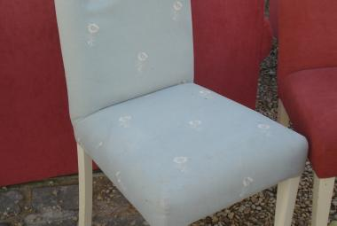 dining chair without arms blue and flower patter newbury reading berkshire