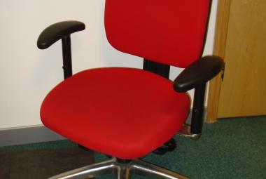 used multi function operator chair with arms red fabric newbury berkshire