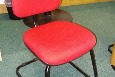 used cantilever meeting chair without arms red fabric newbury berkshire