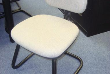 used sleigh base medium back visitor chair