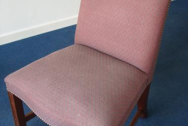 high back dining chair with stud details