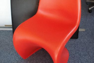 vitra panton chair red iconic designer newbury reading berkshire