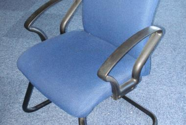 shirtback cantilever meeting chair blue fabric newbury berkshire