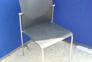 Rovo Visitor Chair (stackable) Black Plastic Finish without Arms.