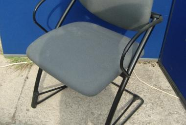 Steelcase Cantilever Base Meeting Chair with Arms in Grey Used