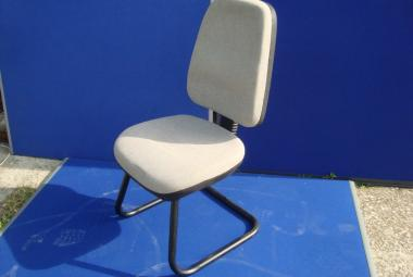 High Back Meeting Chair Grey Fabric