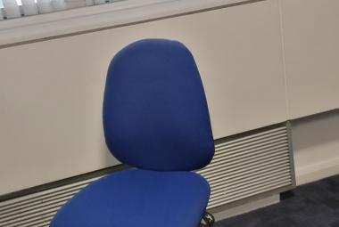 high back adjustable office chair without arms blue oxford newbury
