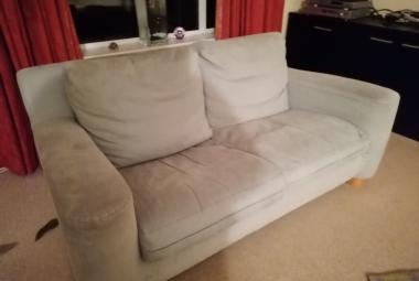 heals 2 seater sofa mint green berkshire