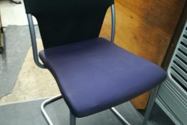 brunner cantilever meeting chair purple office designer newbury berks
