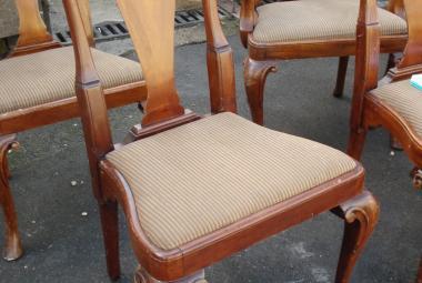 dark wood dining chair no arms newbury reading berks traditional