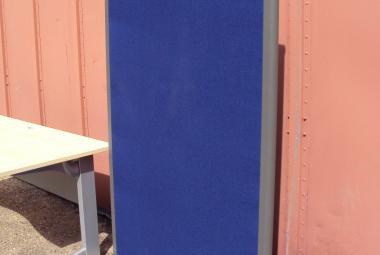 Rectangular Office Divider Blue fabric newbury berkshire