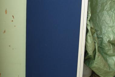1.2m desk screen partition blue reading newbury basingstoke