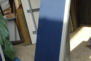 1.8 desk screen partition blue acoustic board berkshire