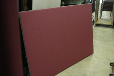 freestanding screen office partition burgundy fabric newbury berks