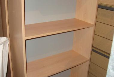 beech bookcase office home storage lever arch newbury basingstoke