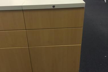 reconditioned under desk metal desk drawer beech front newbury berkshire